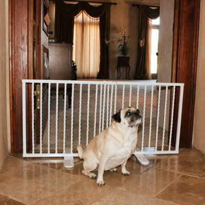Step Over Freestanding Pet Gate Finish: White