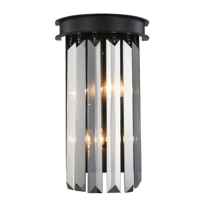 Lavinia 2-Light Flush Mount Shade Color: Clear