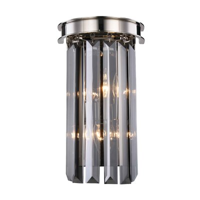Lavinia 2-Light Flush Mount Shade Color: Silver Shade