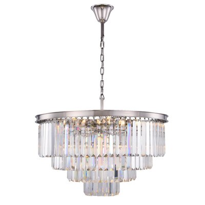 Lavinia 17-Light Crystal Chandelier Finish: Polished Nickel, Crystal Color: Clear