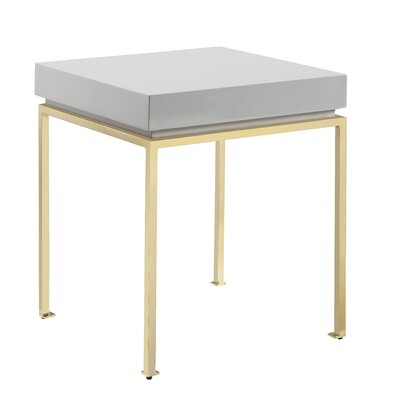 Laforest End Table Table Top Color: Gray
