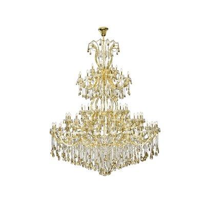 Regina 84-Light Empire Chandelier Finish: Gold, Crystal Color: Smoky, Crystal Type: Royal Cut