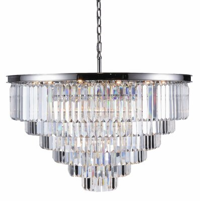 Lavinia 33-Light Crystal Chandelier Finish: Polished Nickel, Crystal Color: Clear