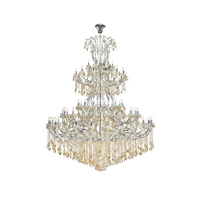 Regina 84-Light Empire Chandelier Finish: Chrome, Crystal Color: Champagne, Crystal Type: Royal Cut