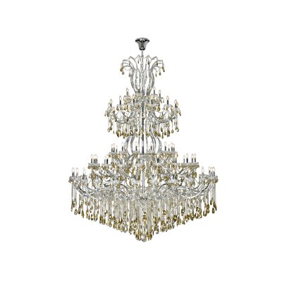 Regina 84-Light Empire Chandelier Finish: Chrome, Crystal Color: Smoky, Crystal Type: Royal Cut
