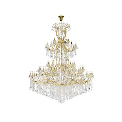 Regina 84-Light Empire Chandelier Finish: Gold, Crystal Type: Elegant Cut