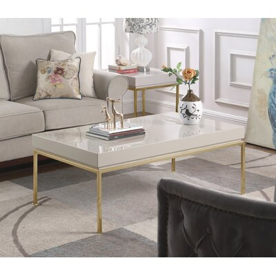 Laforge Center Coffee Table Table Top Color: Beige