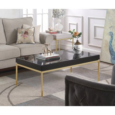 Laforge Center Coffee Table Table Top Color: Black