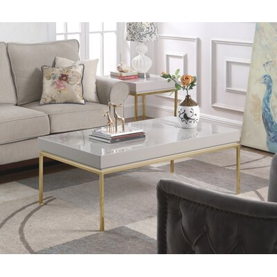 Laforge Center Coffee Table Table Top Color: Gray