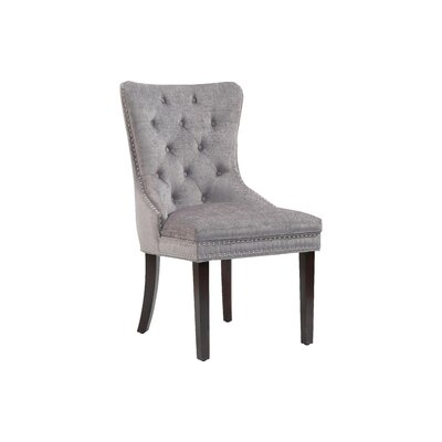 Loganne Upholstered Dining Chair Upholstery Color: Gray