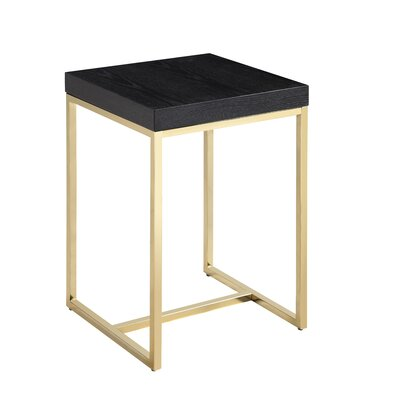 Heim End Table Table Top Color: Black