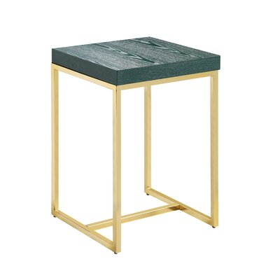 Heim End Table Table Top Color: Green
