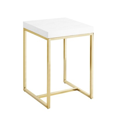 Heim End Table Table Top Color: White