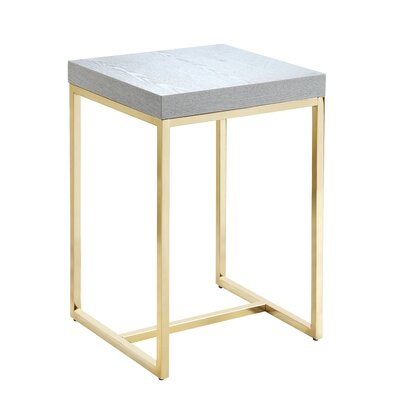 Heim End Table Table Top Color: Gray