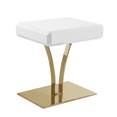Lafon End Table Table Top Color: White