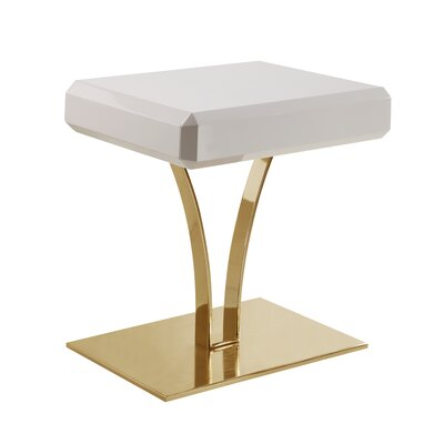 Lafon End Table Table Top Color: Beige