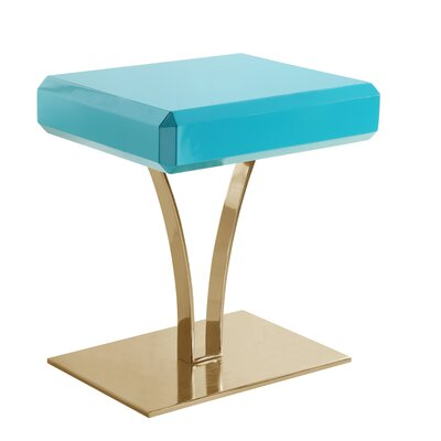 Lafon End Table Table Top Color: Green