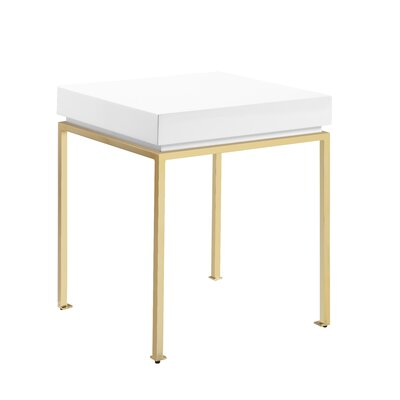 Laforest End Table Table Top Color: White