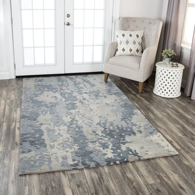 Greco Hand-Tufted Wool Gray Area Rug Rug Size: Runner 26 x 8
