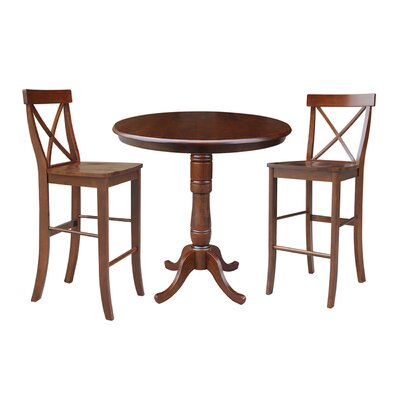 Dingler 3 Piece Pub Table Set