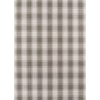 Marlborough Charles Hand-Woven Wool Grey Area Rug Rug Size: Rectangle 2 x 3