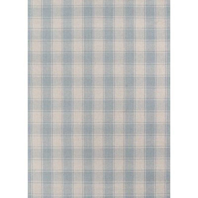 Marlborough Charles Hand-Woven Wool Light Blue Area Rug Rug Size: Rectangle 36 x 56