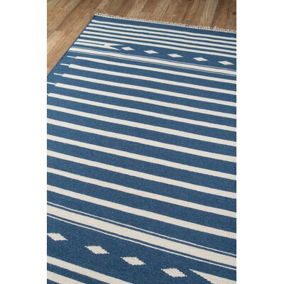 Thompson Billings Hand-Woven Wool Denim Area Rug Rug Size: Rectangle 2 X 3