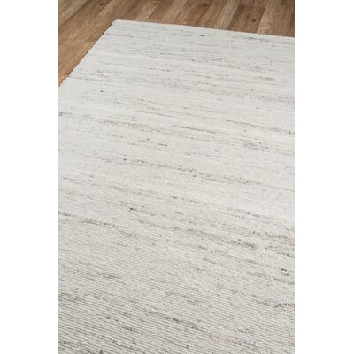Richmond Collins Hand-Woven Wool Ivory Area Rug Rug Size: Rectangle 7'6