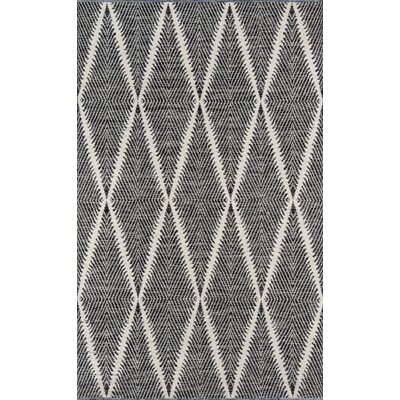 River Beacon Hand-Woven Black Indoor/Outdoor Area Rug Rug Size: Rectangle 5 X 76