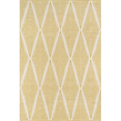 River Beacon Hand-Woven Citron Indoor/Outdoor Area Rug Rug Size: Rectangle 36 X 56