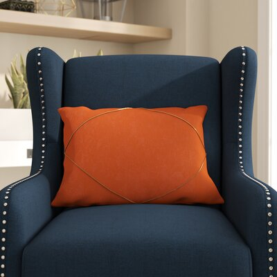 Marty Lumbar Pillow Color: Orange