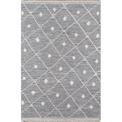 Thompson Appleton Hand-Woven Wool Grey Area Rug Rug Size: Rectangle 76 x 96