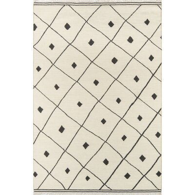 Thompson Appleton Hand-Woven Wool Ivory Area Rug Rug Size: Rectangle 5 x 76