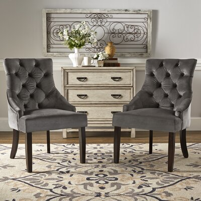 Agnes Side Chair Upholstery : Drak Gray