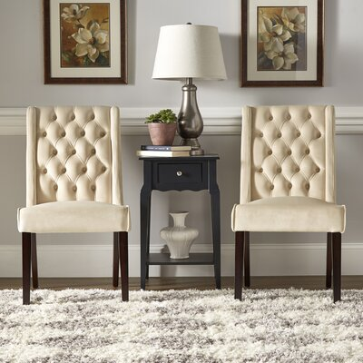 Justine Side Chair Upholstery: Beige