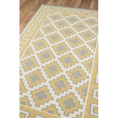 Thompson Brookline Hand-Woven Wool Gold Area Rug Rug Size: Rectangle 76 x 96