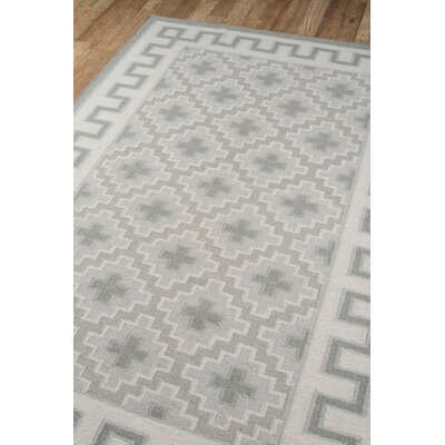 Thompson Brookline Hand-Woven Wool Grey Area Rug Rug Size: Runner 23 x 8
