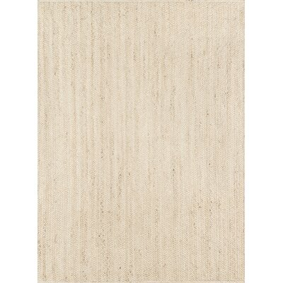 Westshore Waltham Hand-Woven Wool Natural Area Rug Rug Size: Rectangle 5 x 76
