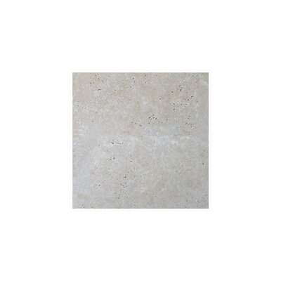 Light Tumbled 4 x 4 Travertine Field Tile in Gray
