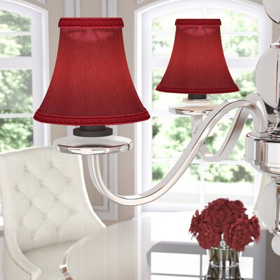 6 Silk Softback Bell Clip-on Lamp Shade Color: Burgundy