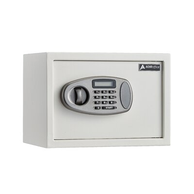 """Image of 0.5 Cubic Feet Wall Safe with Electronic Lock Size: 15"""" H x 12"""" W x 12"""" D, Finish: White"""