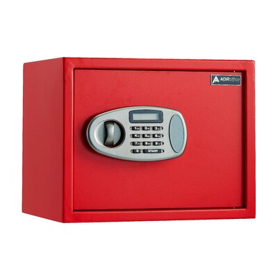 """Image of 0.5 Cubic Feet Wall Safe with Electronic Lock Size: 15"""" H x 12"""" W x 12"""" D, Finish: Red"""
