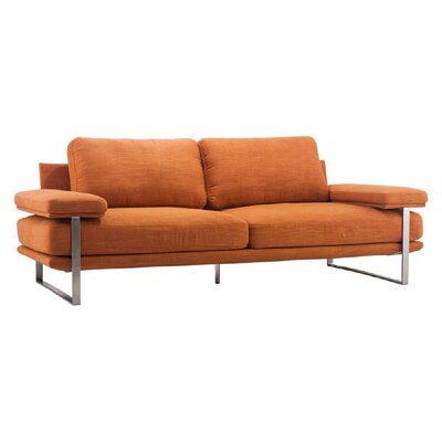 Jett Sofa Upholstery: Orange