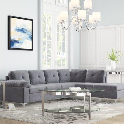 Sanders Sectional Upholstery: Dark Gray
