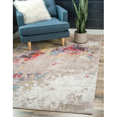 Downtown Nolita Yellow/Gray Area Rug Rug Size: Rectangle 4 x 6