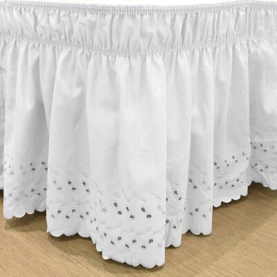 Gilford Wrap Around Eyelet Ruffled Bed Skirt