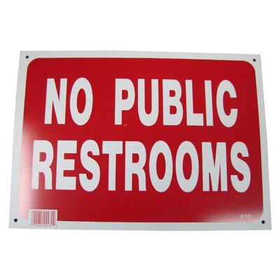 No Public Restroom Sign