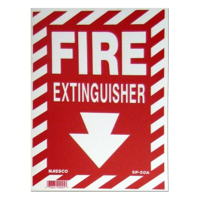 Fire Exstinguisher with Arrow Sign