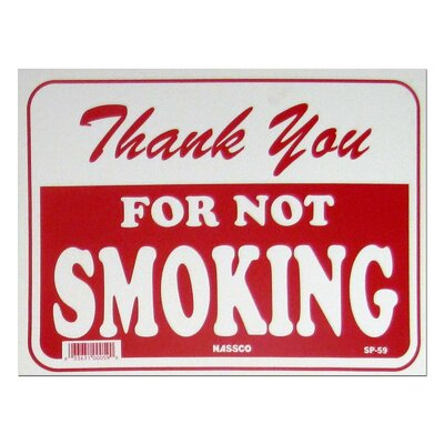 Thank You No Smoking Sign