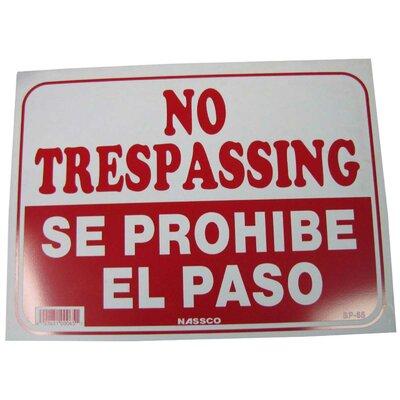 No Trespassing English Spanish Sign